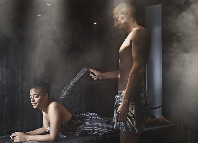 What are the benefits of using a steam bath?